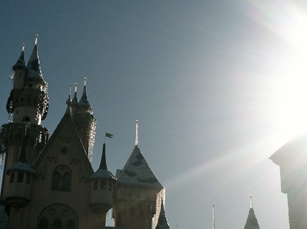 Sleeping Beauty's Castle during the day.