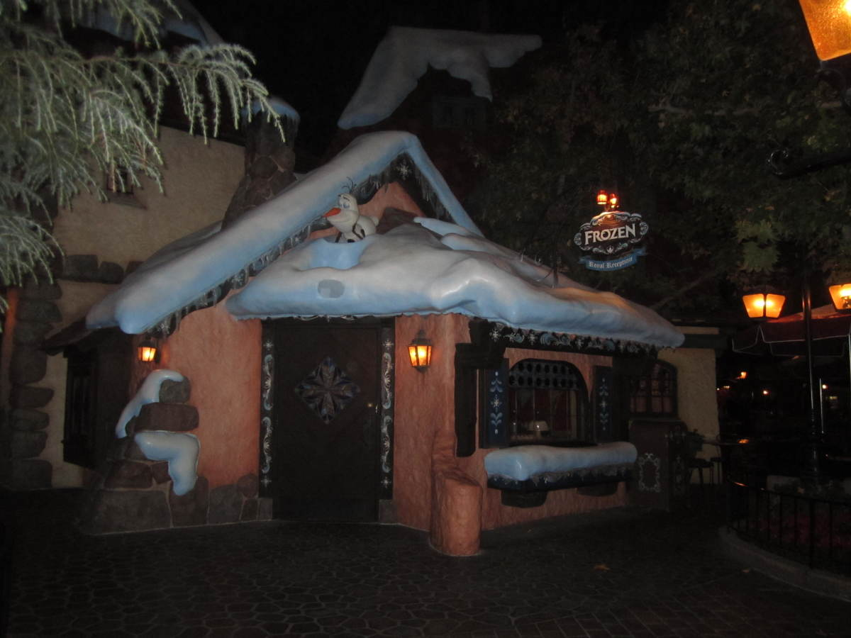 The Frozen meet and greet house located inside of Fantasyland.