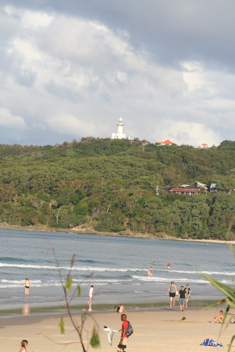 Byron Bay still has beautiful natural landscapes to enjoy. Ours is not a beach lined with tall apartment buildings! No matter the season, there's always people on the beach.