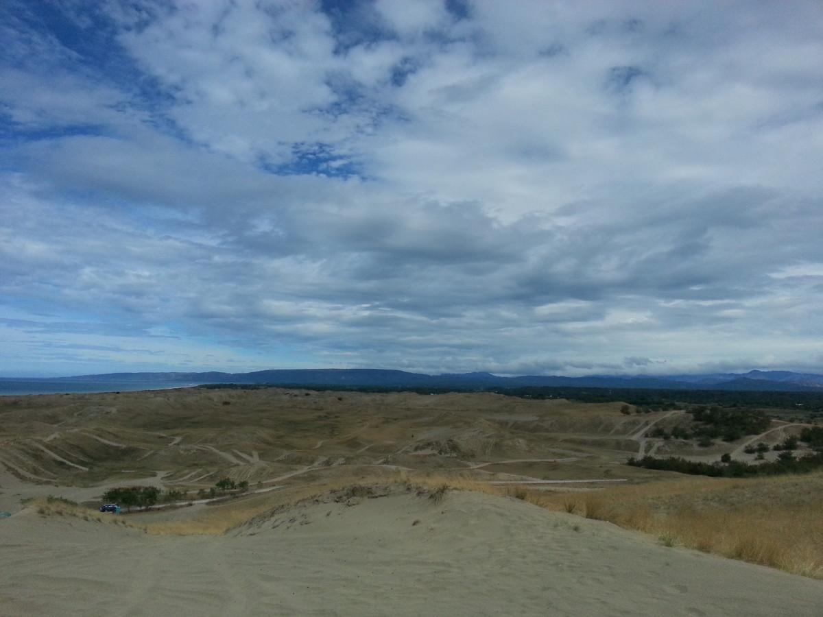 A landscape view of Lapaz Sand dunes