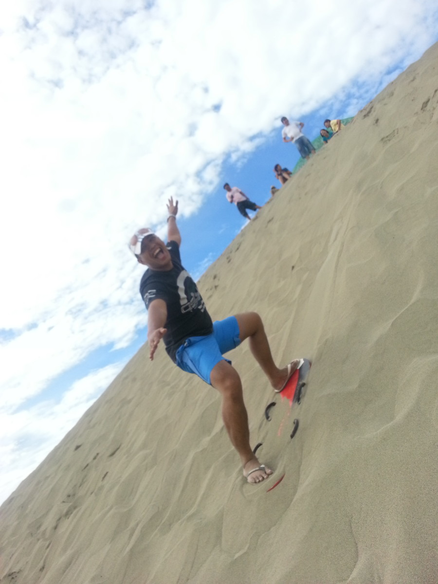 Sand Boarding at Lapaz Sand dunes