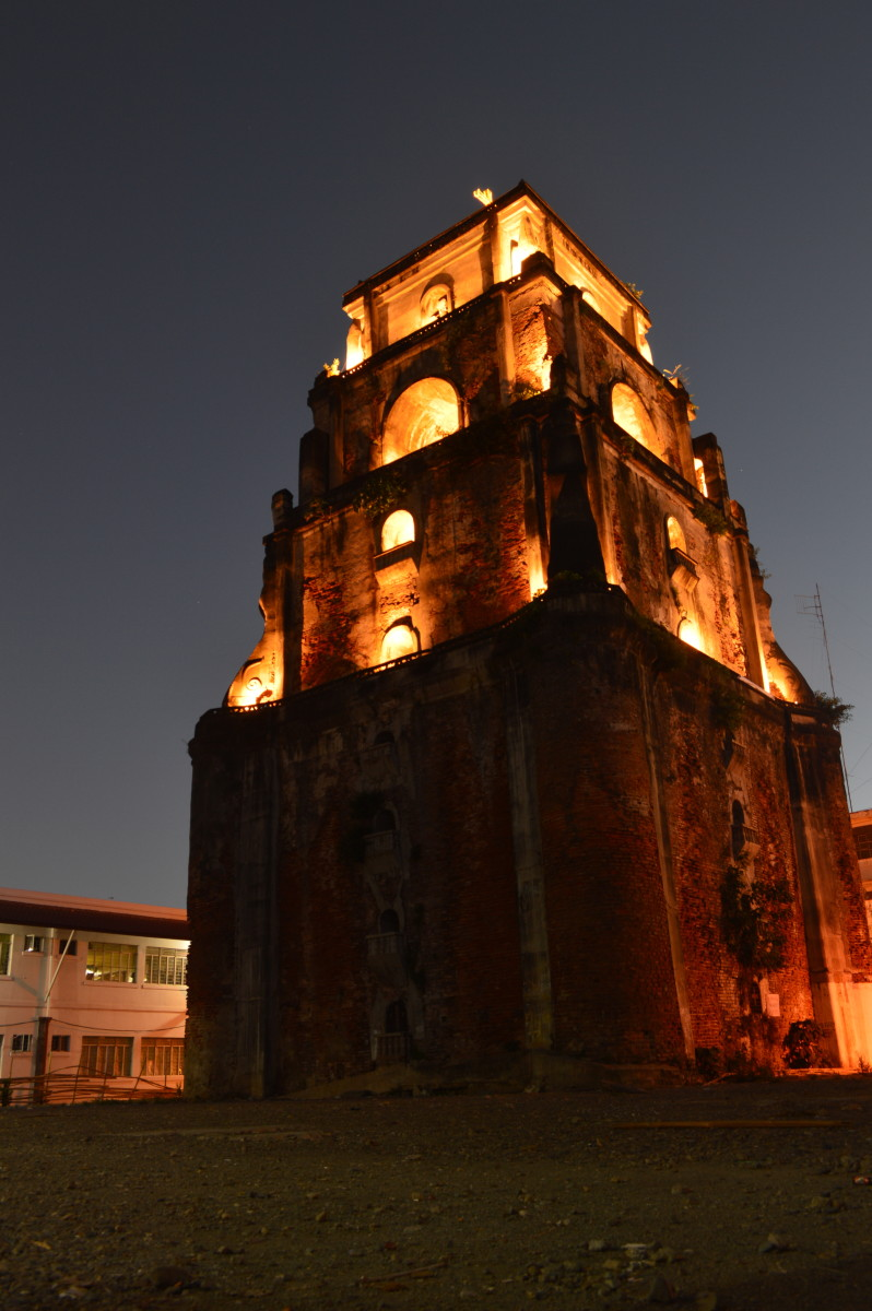 The Sinking Bell Tower late at night