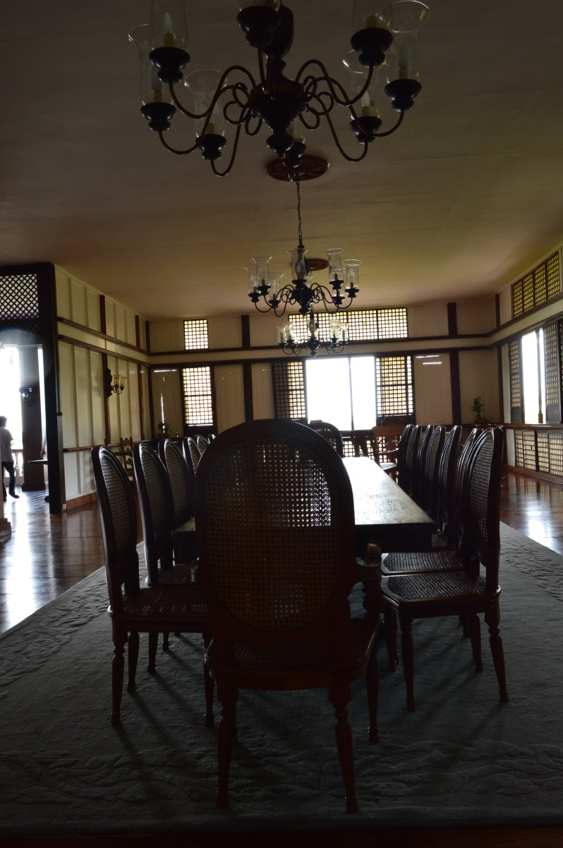 Pres. Marcos dining table inside Malacanang of the North