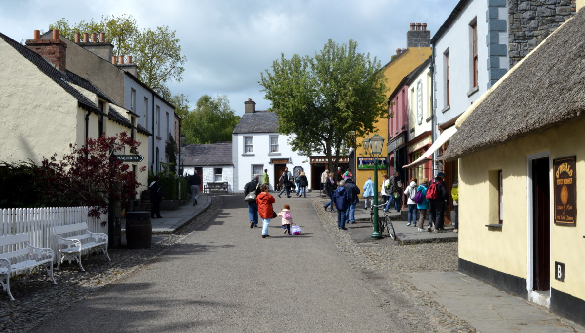 Bunratty Folk Park displays a way of life during the  19th century next to the castle built in the 15th century.