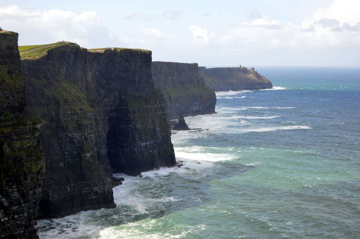 No photo can do justice to the massive Cliffs of Moher, one of the most popular tourist attractions in Ireland.