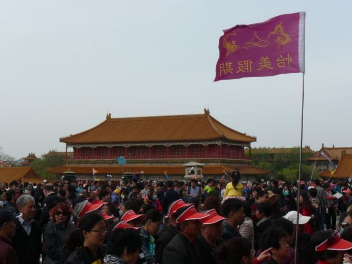 Crowds at the Forbidden City, Beijing