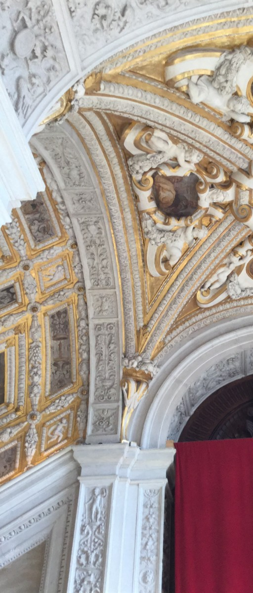 Detail on the Golden Staircase in the Doge's Palace