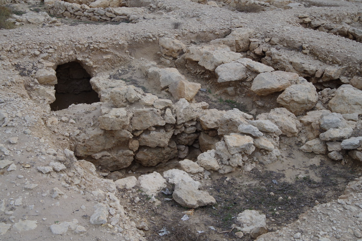 A close look at the excavated graves.