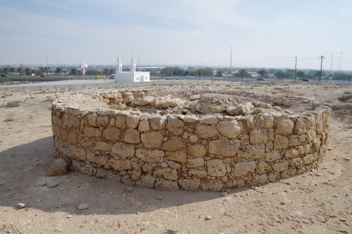An excavated well.