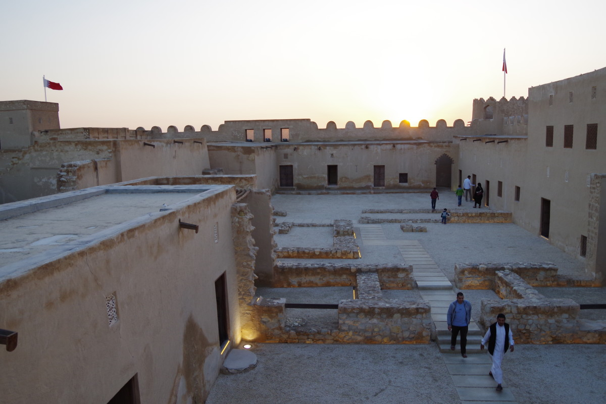 View from top of the roof of the fort (January 2016).