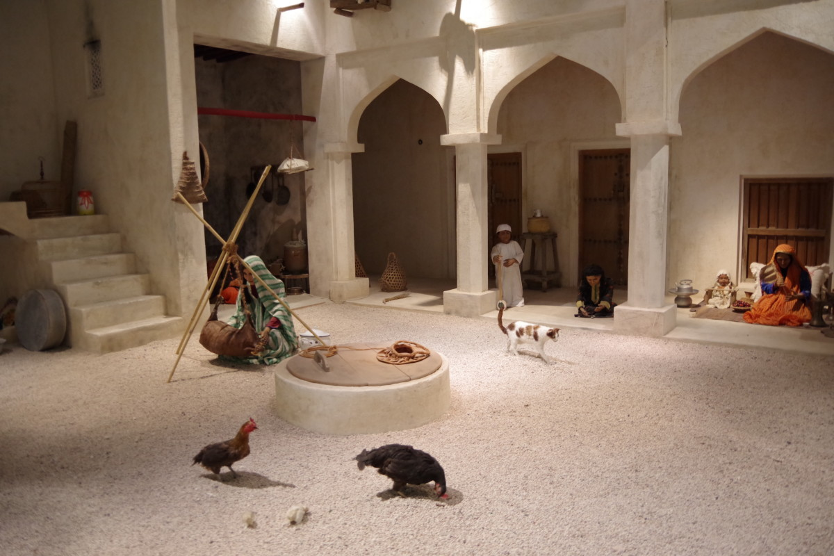 An exhibit showing village life of Bahrain.