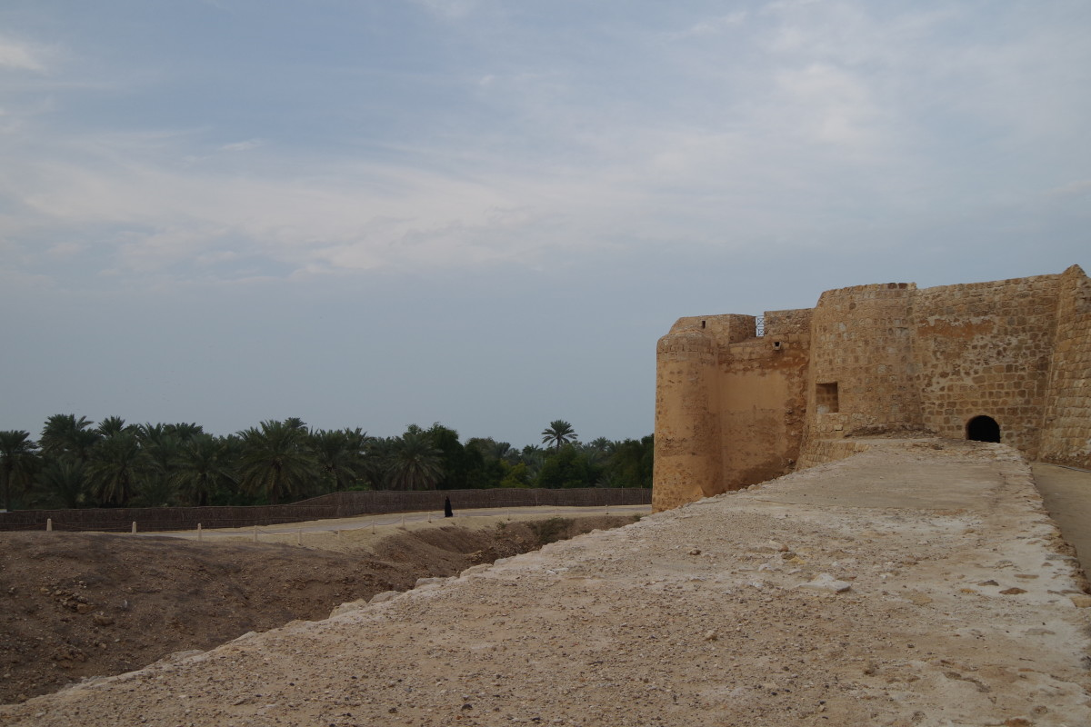 Outer wall of the fort facing plantation (December 2015)