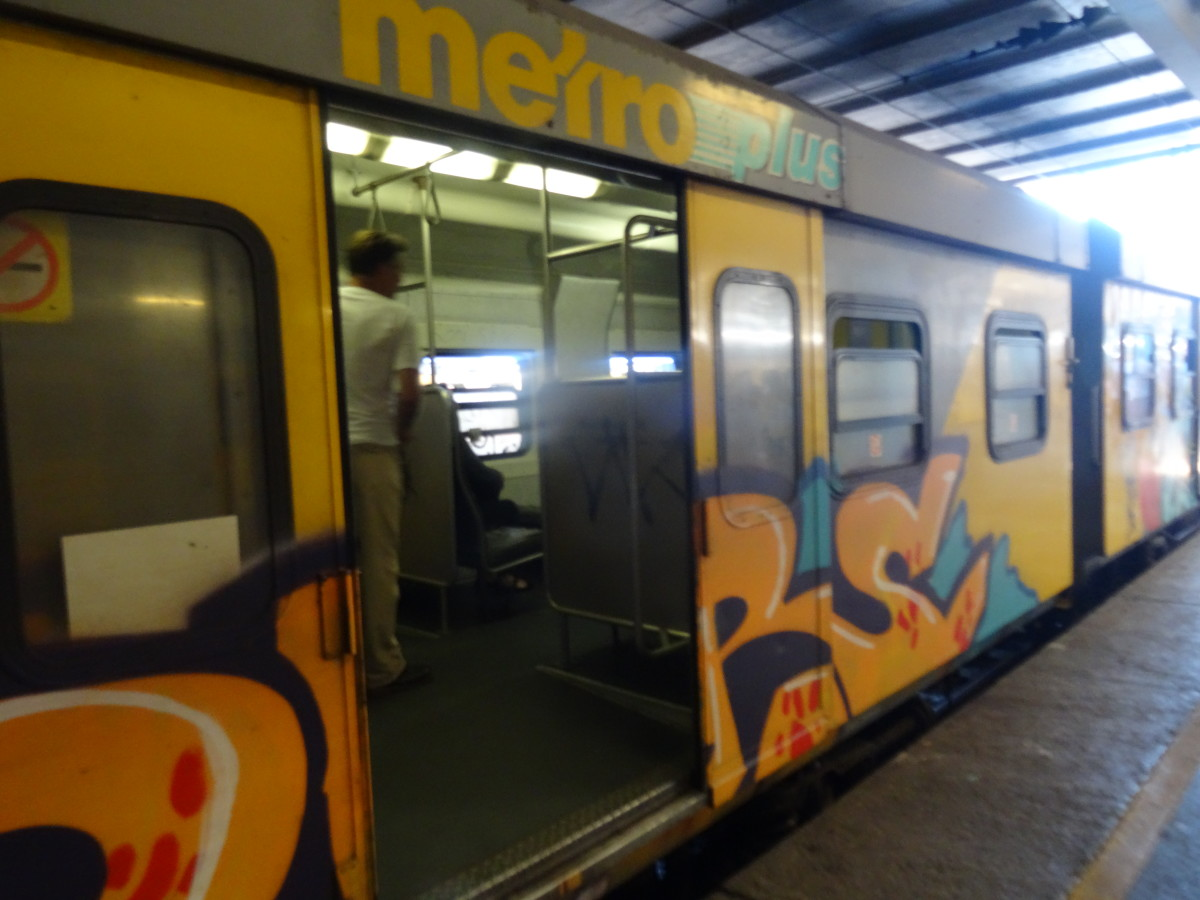 Virtually all the old trains are riddled with graffiti - both inside and out!