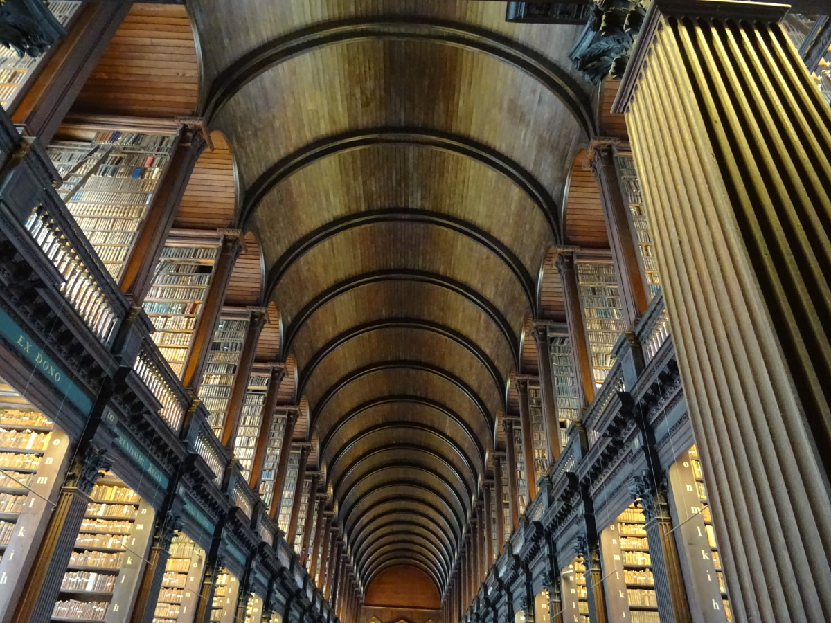 Trinity College Old Library looks like it's from the world of Harry Potter.