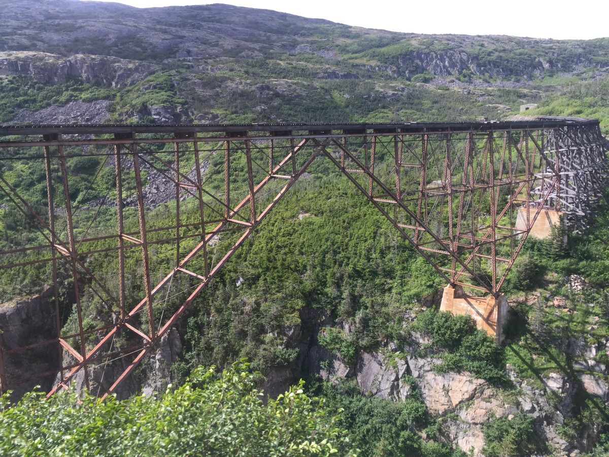 Old railroad bridge which was an engineering wonder of it's day!