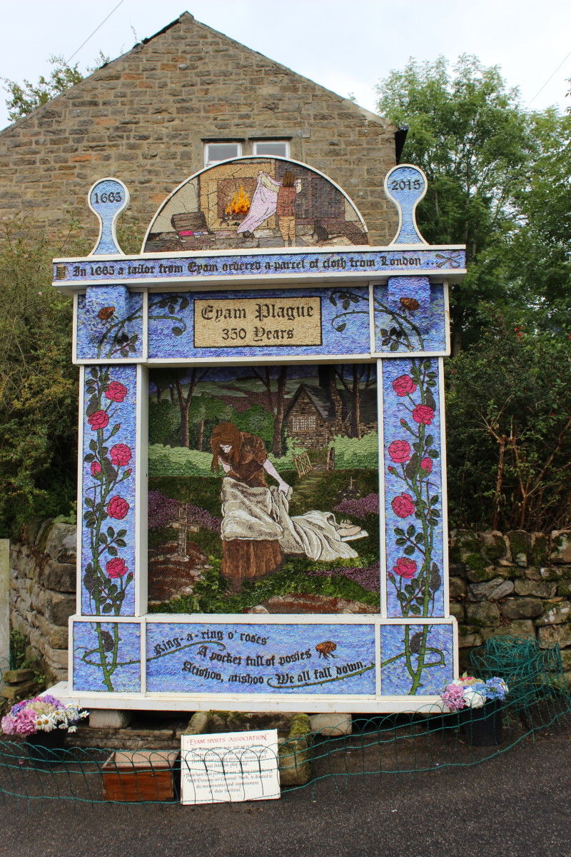 Well dressing at Eyam