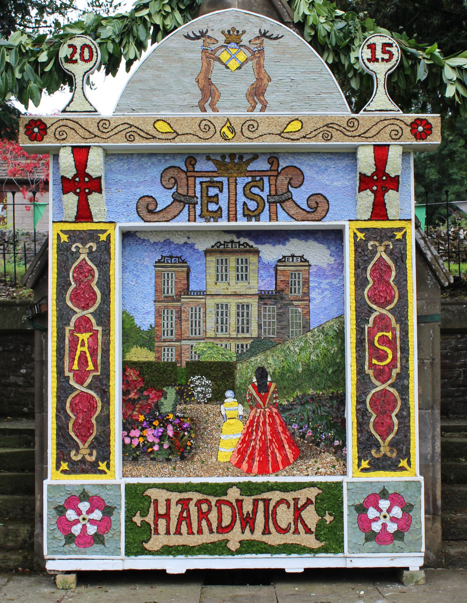 Well dressing featuring Hardwick Hall