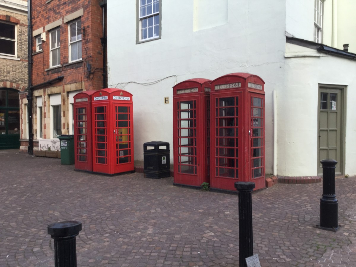 Telephone Boxes in Newark Market Place
