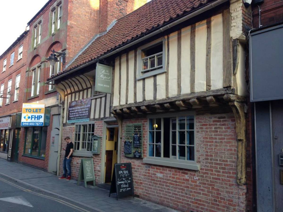 The Prince Rupert. A 16th century wealthy merchants house.  Underwent extensive restoration some years ago and is now a pub/restaurant.