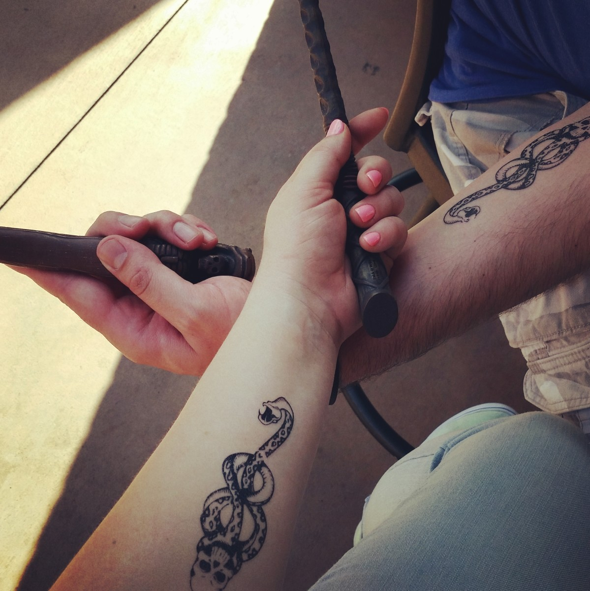 Dark mark tattoos at the Wizarding World of Harry Potter