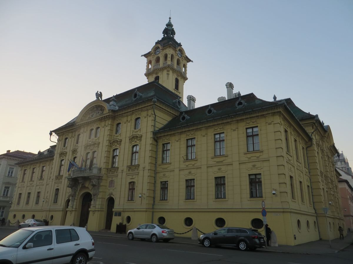 The Town Hall on the side of Szechenyi Square