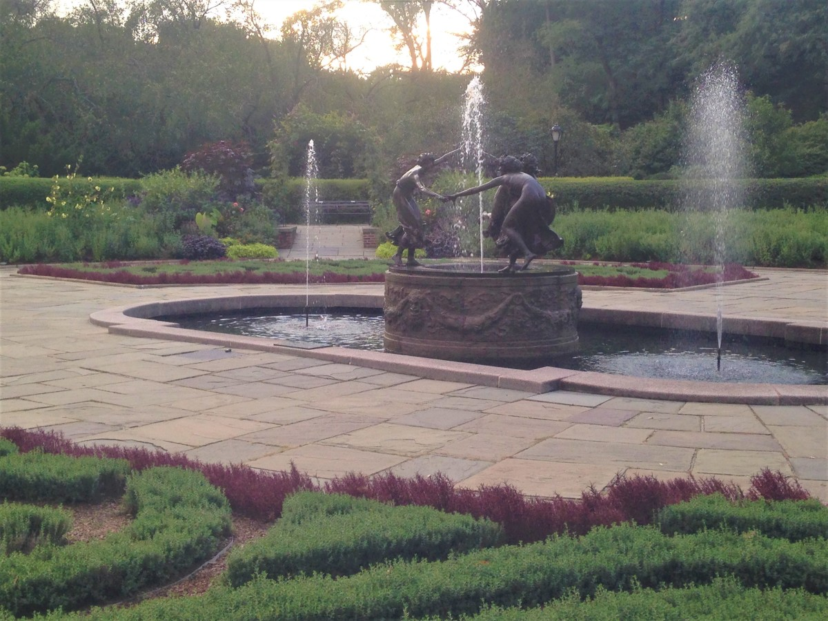 Sitting by the heavenly fountains in Conservatory Garden is one of the most relaxing things to do in Central Park