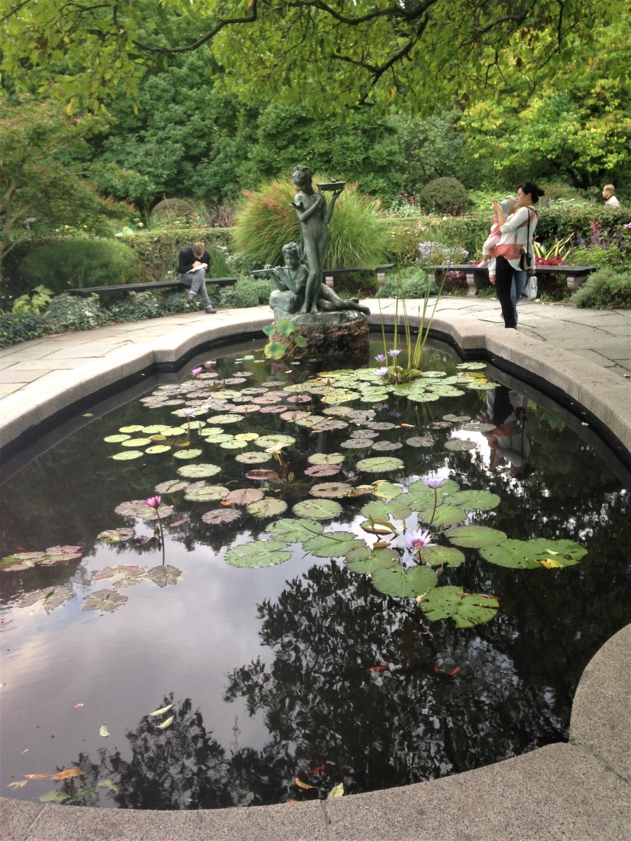 The delightful koi pond in Conservatory Gardens is arguably the best spot in Central Park.