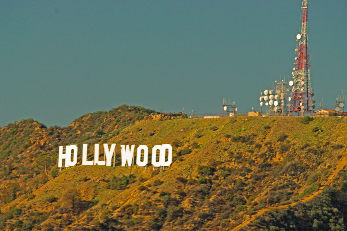The famous Hollywood sign as seen from the Griffith Observatory