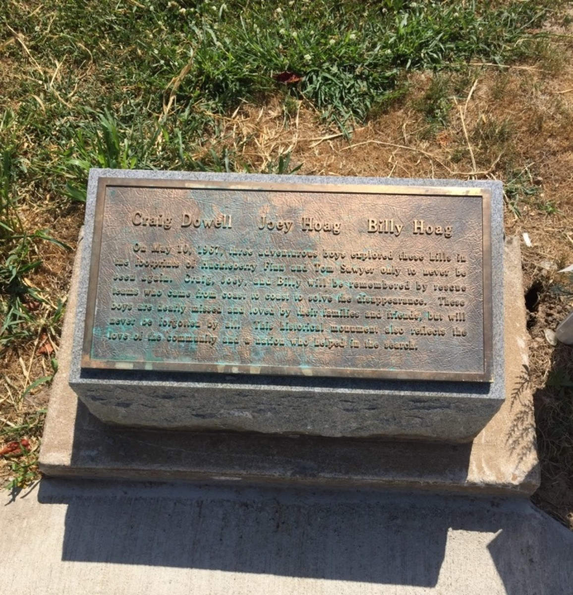 Memorial to the Lost Boys:  Craig Dowell, Joey Hoag, and Billy Hoag