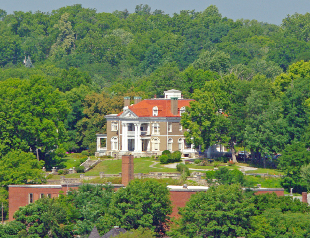 Rockcliffe Mansion as seen from Lover's Leap viewing area