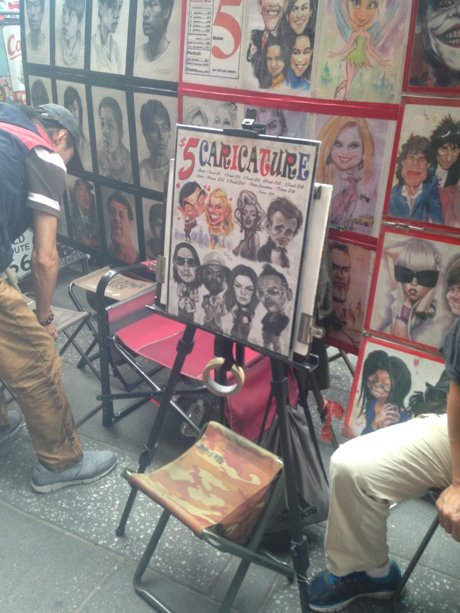 Not only is getting a caricature from a street artisit one of the most unique things to do in Times Square, it also makes for a great souvenir to remember your trip to New York City with!