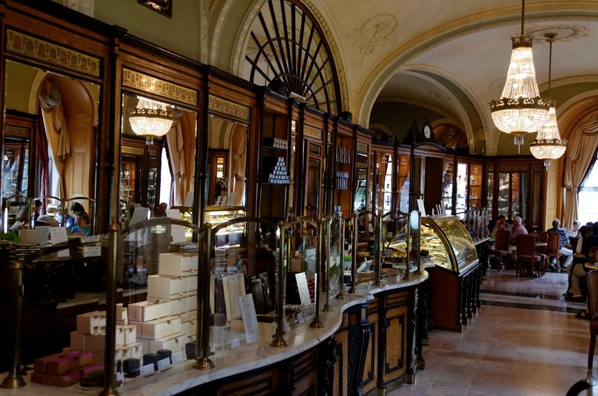 The Luxurious Interior of Café Gerbeaud