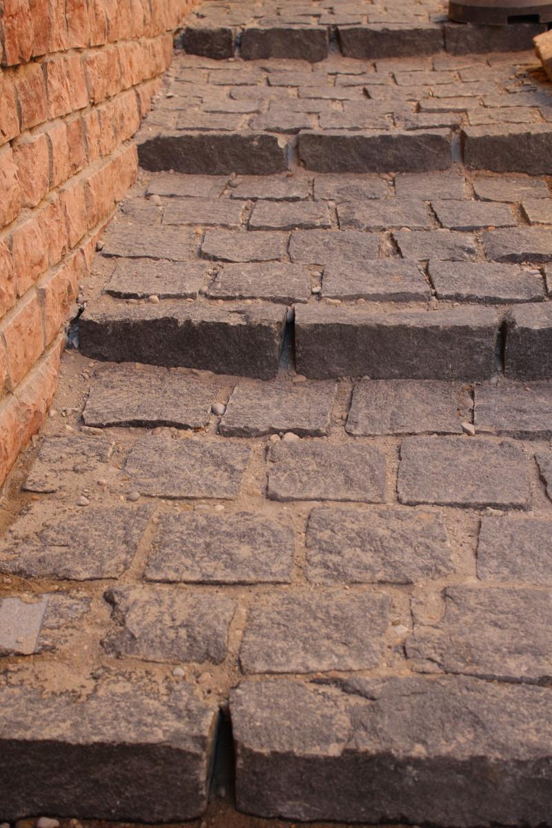 The New Cobblestones of Gül Baba Street