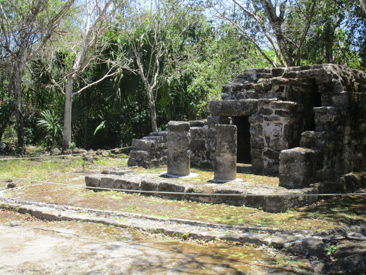 One of the many ancient structures at the Mayan Ruins in San Gervasio.