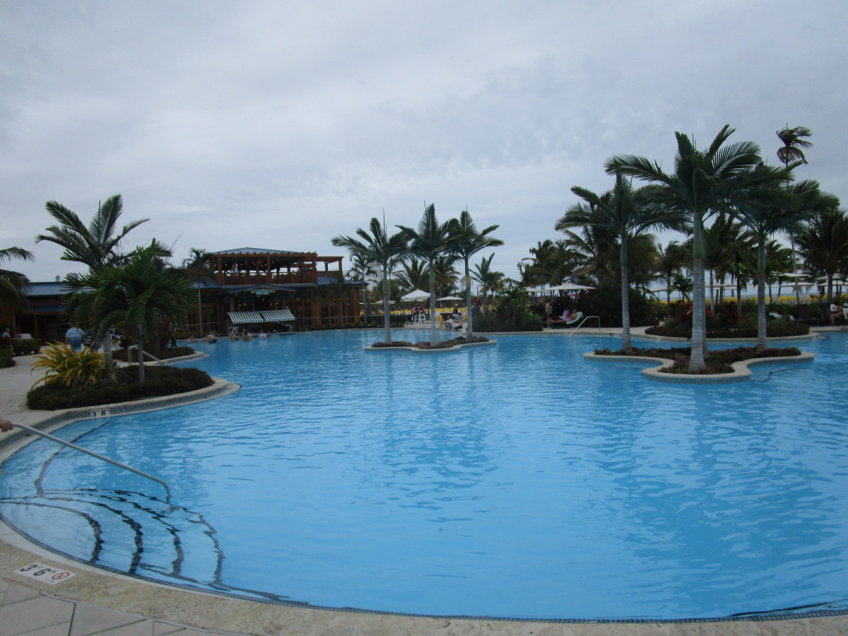 Harvest Caye has an alternative to offer to those who prefer pools over beaches.