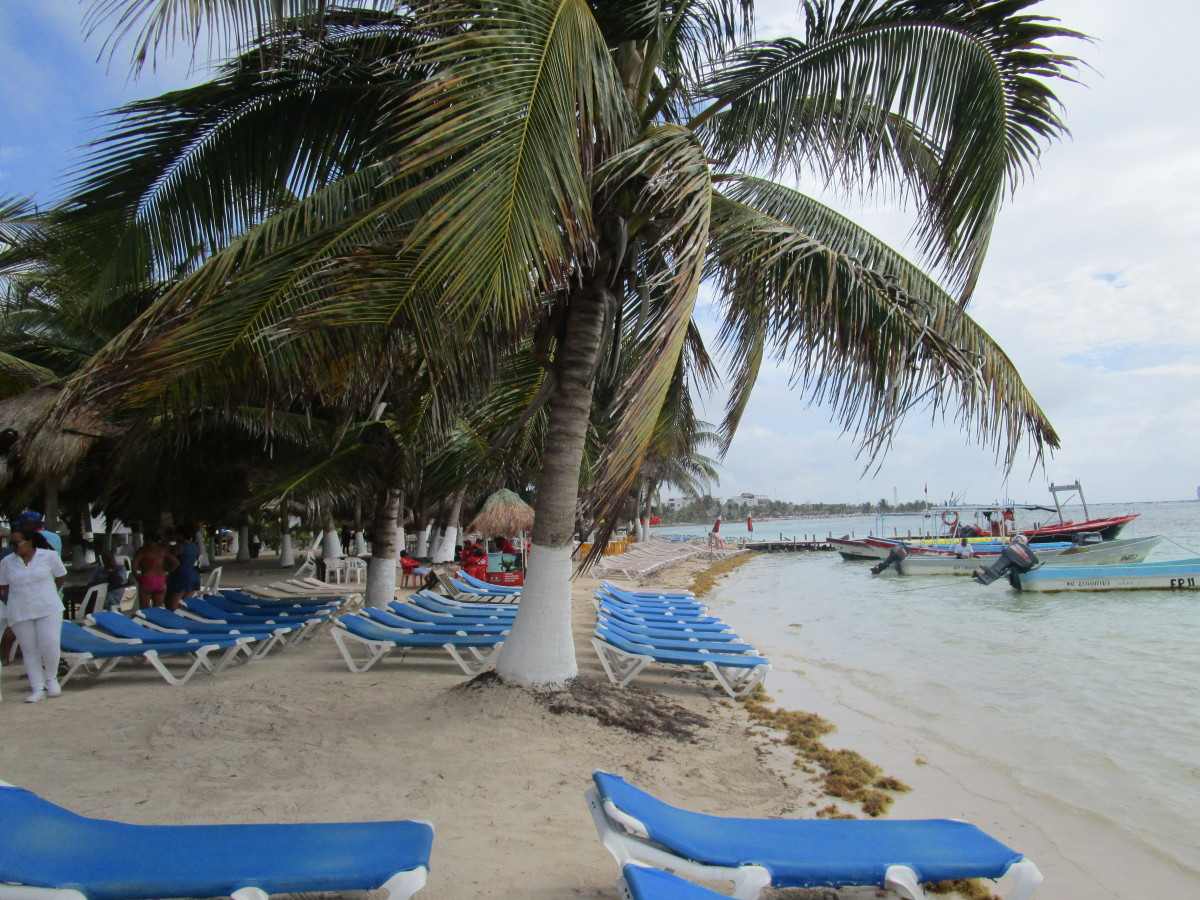 The private beach where we stayed during our day in Costa Maya.