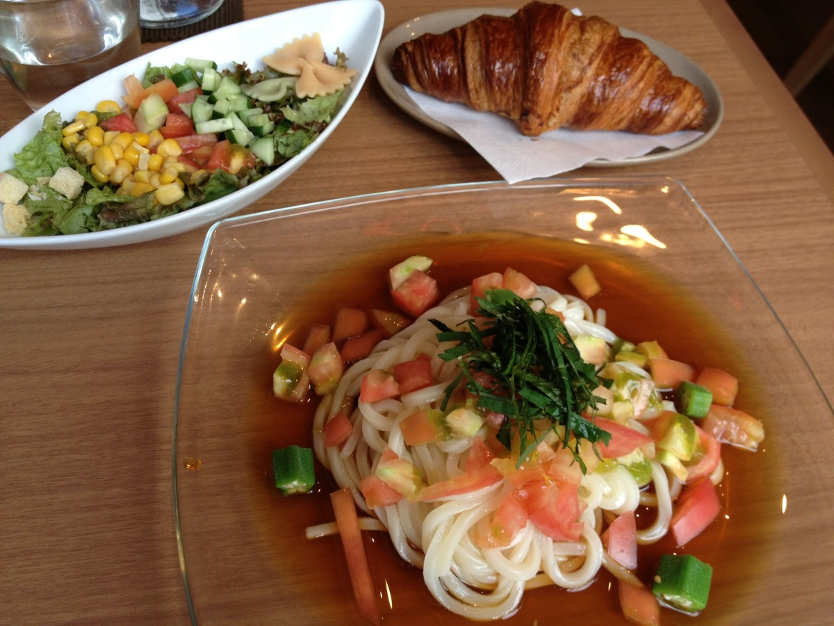 Here's an example of a chilled-style salad udon dish