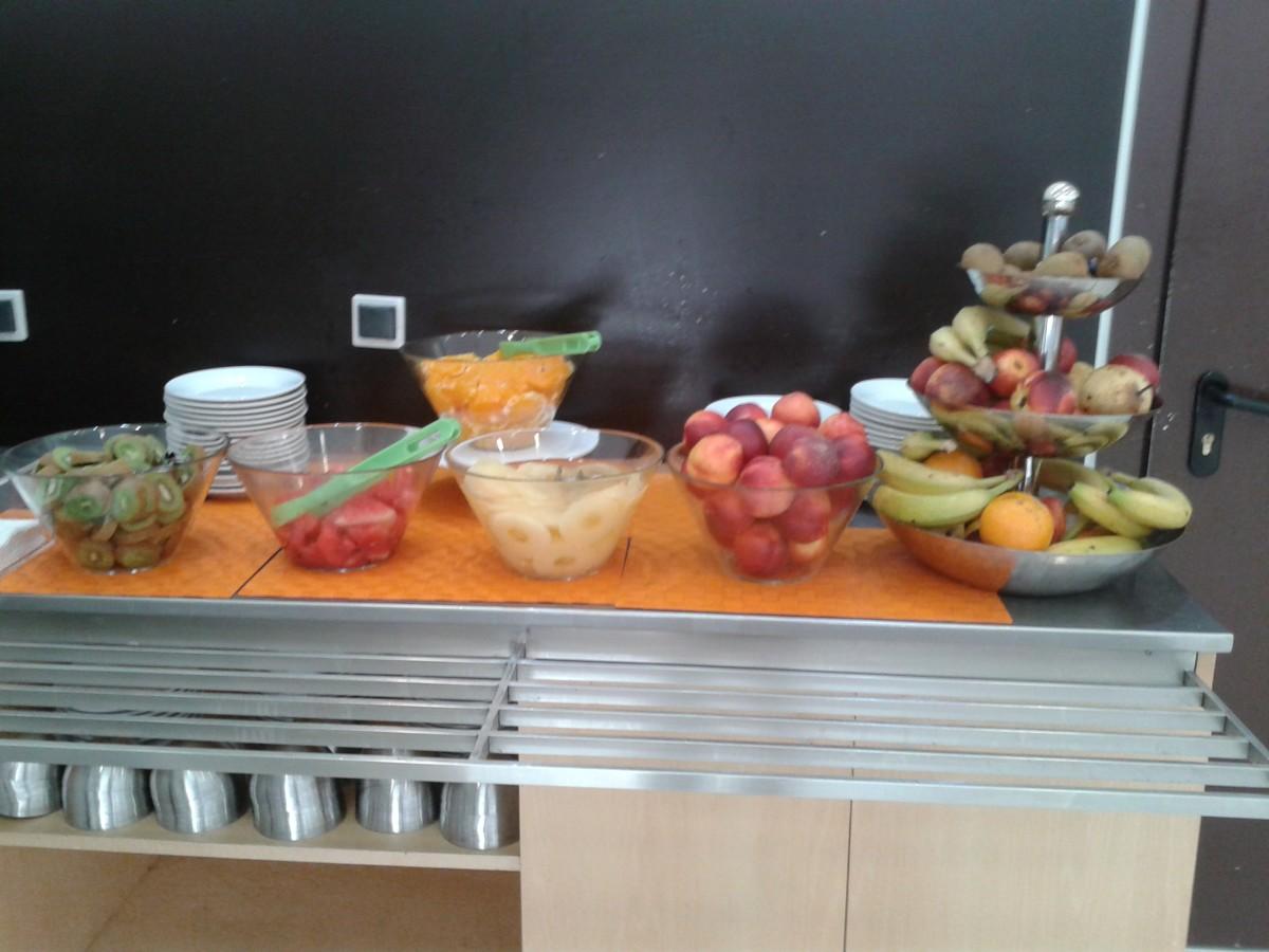 Fruit for breakfast.