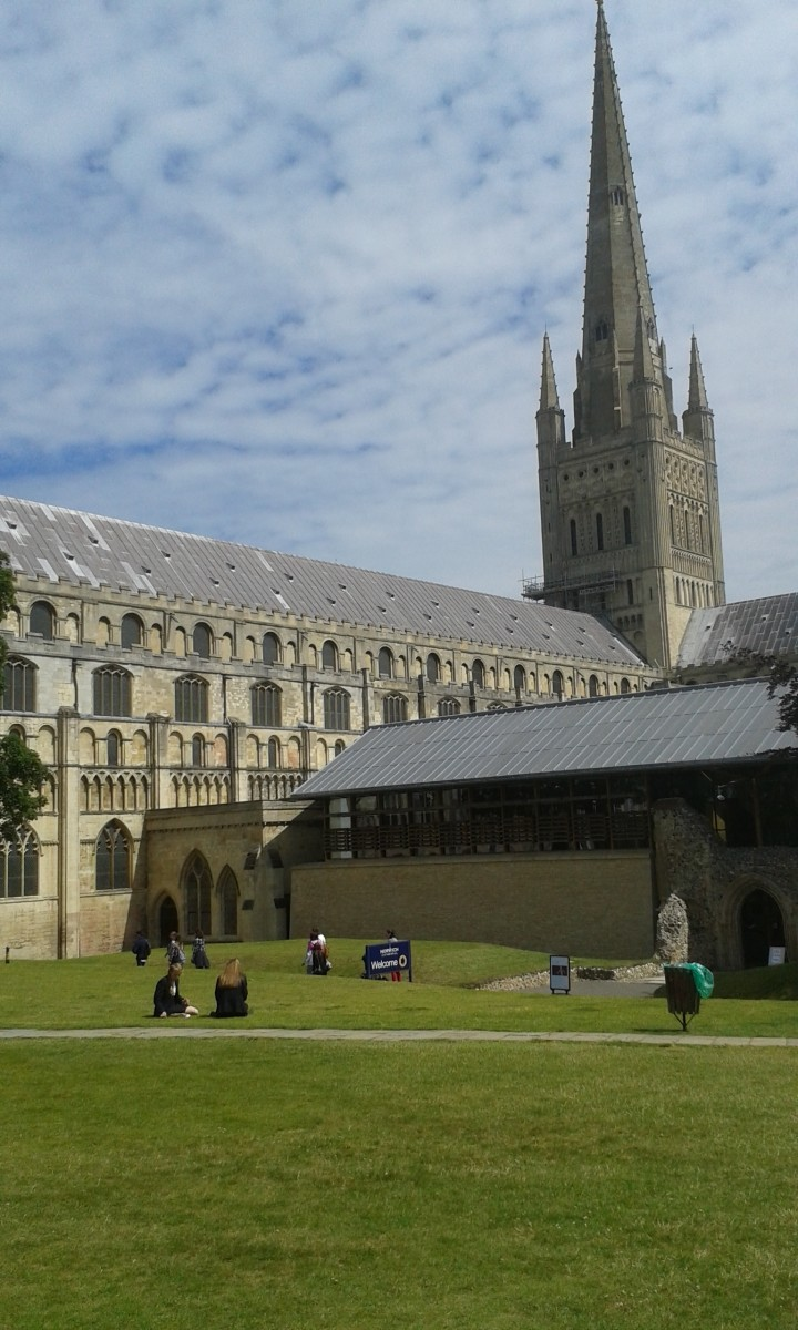 Visiting Norwich in Norfolk, England: Cathedral, Castle, Dragons and More