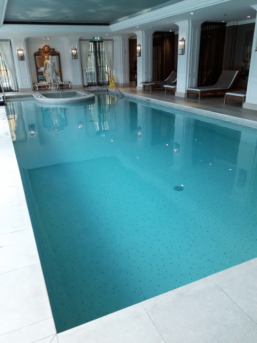 The length of the pool.