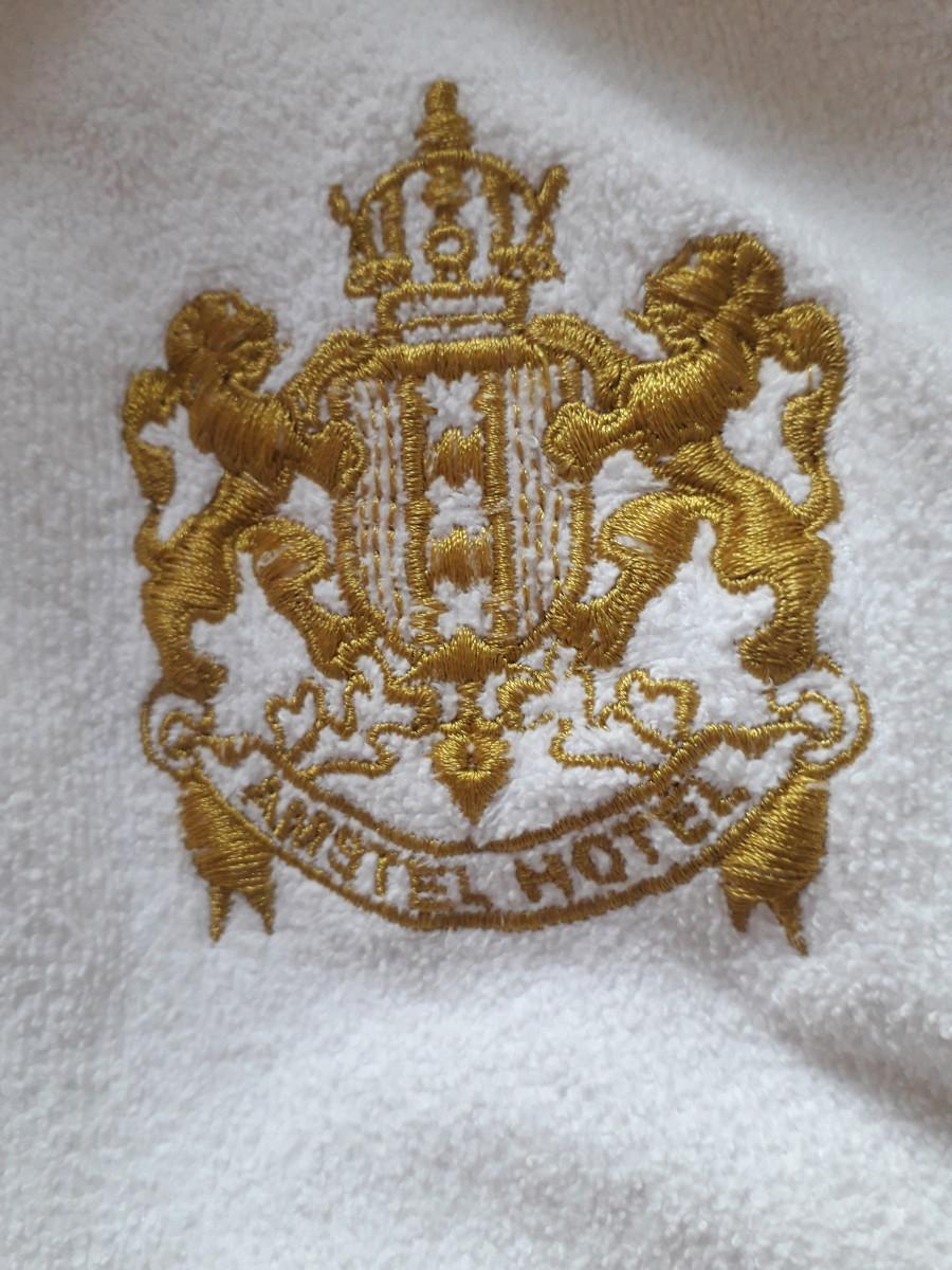 The hotel monogram.