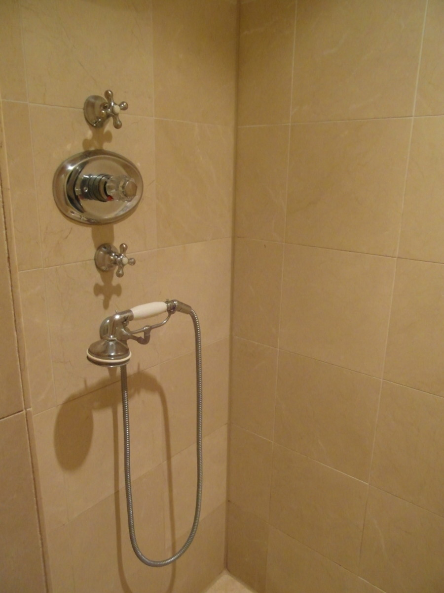 A traditional shower.