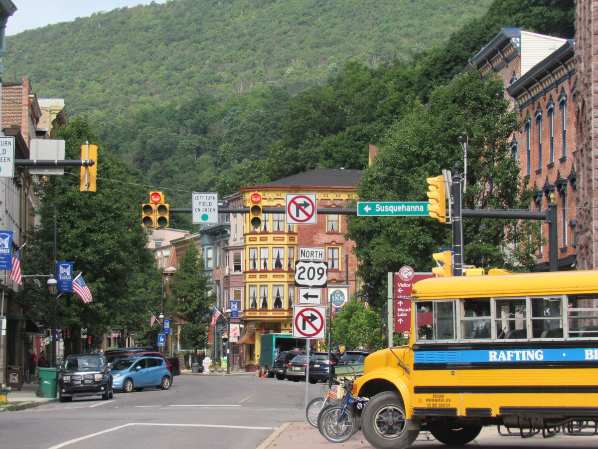 Looking down Broadway from Josiah White Park in Jim Thorpe, PA