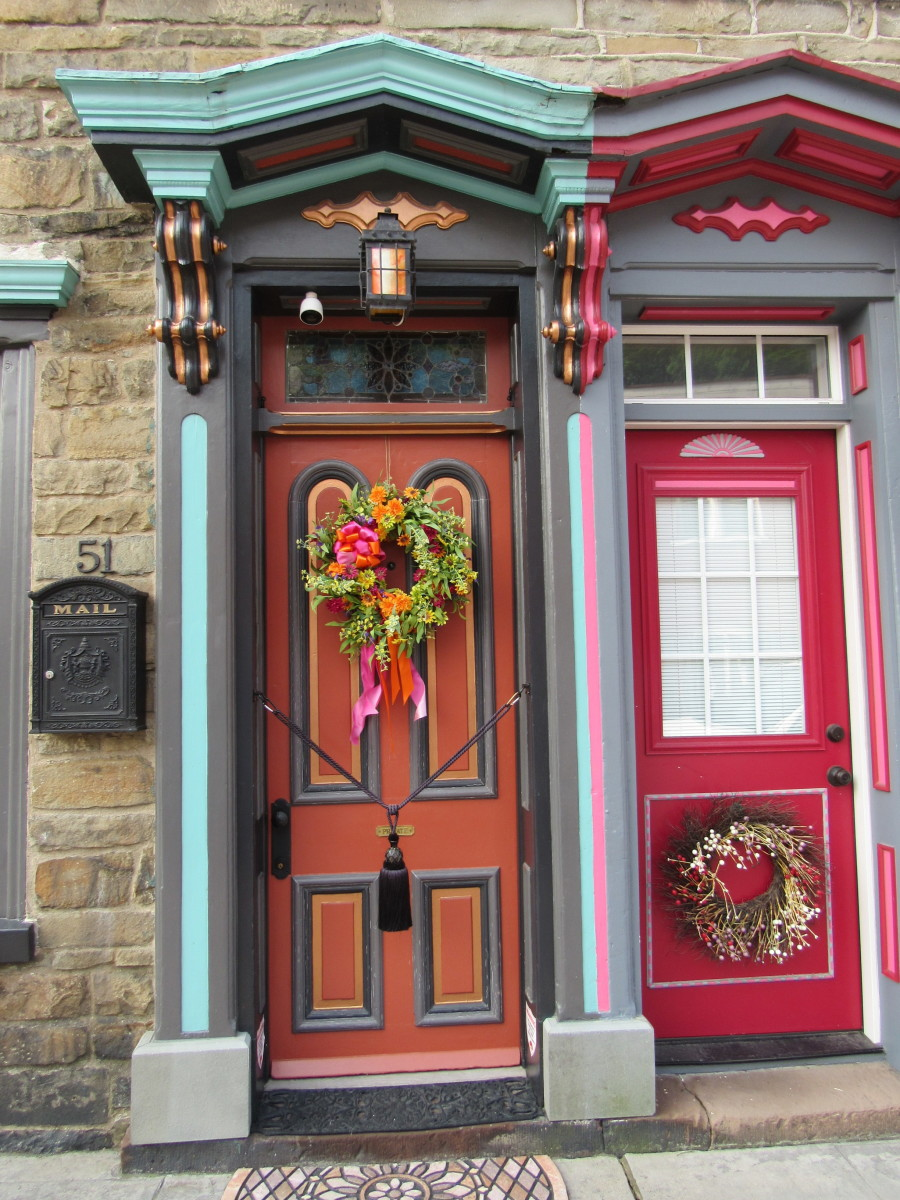 Door frames, Historic Stone Row, Jim Thorpe, PA