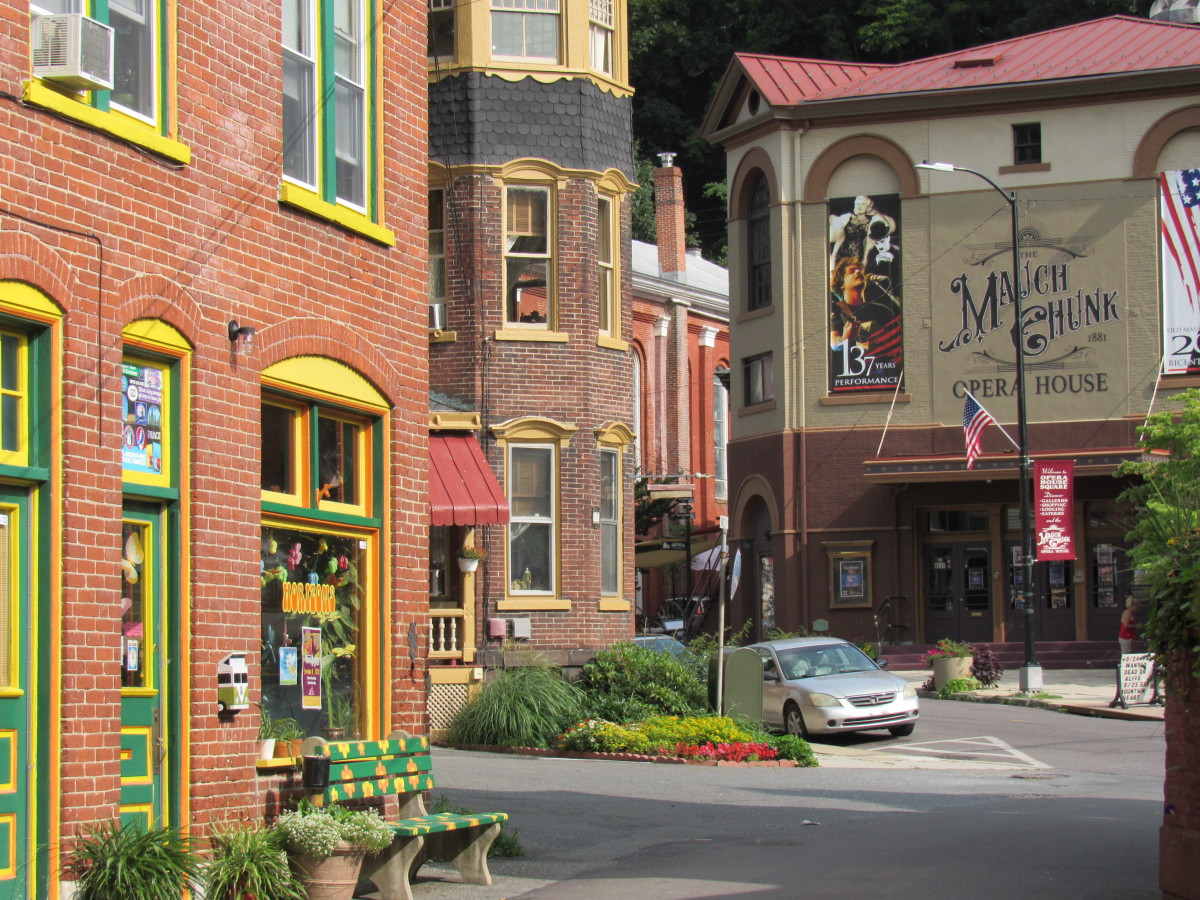 The Mauch Chunk Opera House from across Opera House Square