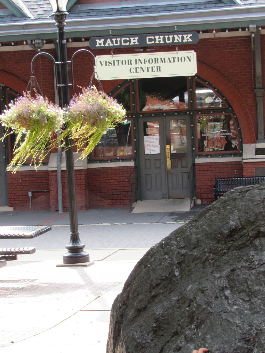 The historic train depot now serves as a Visitor Center and terminal for the historic Lehigh Gorge Scenic Railroad.