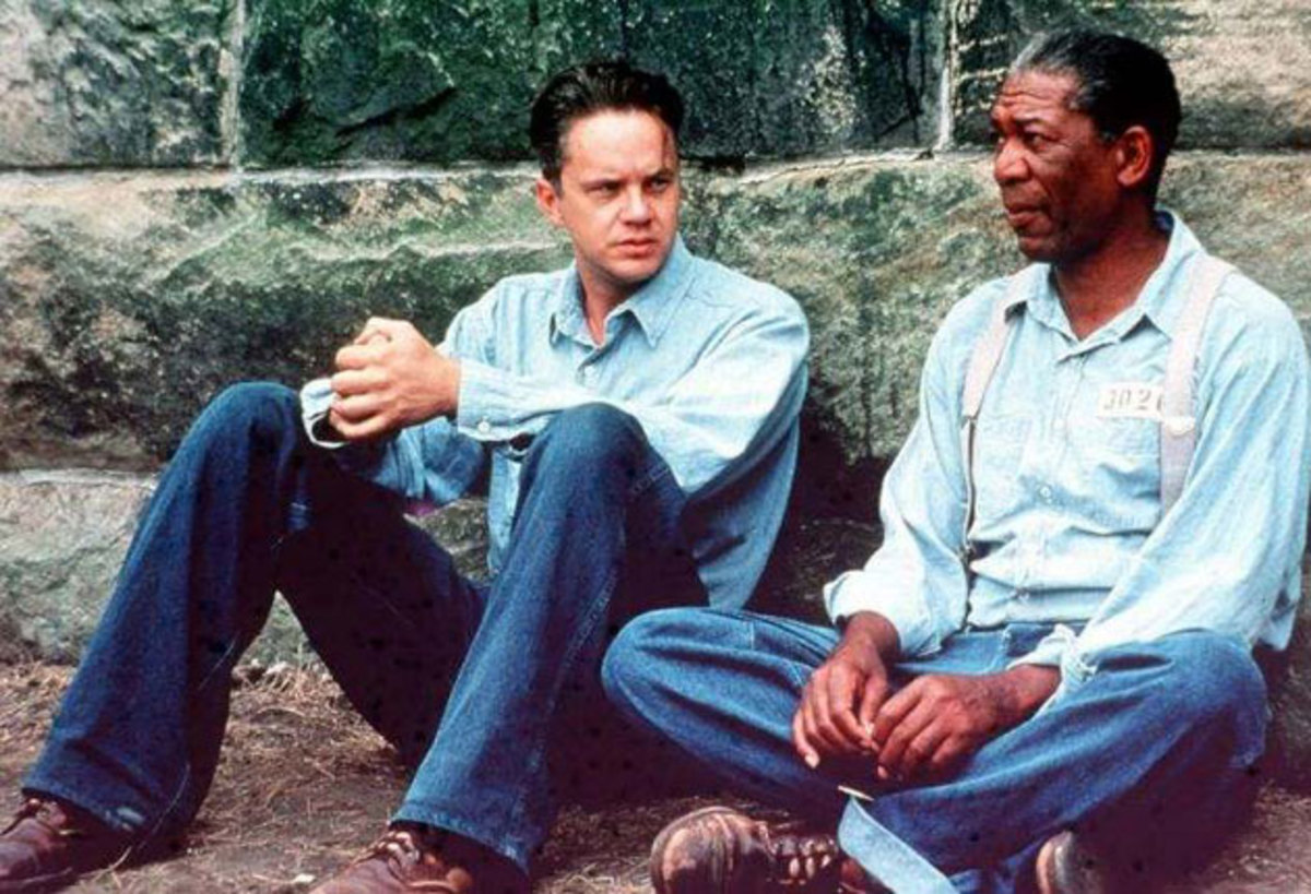 Tim Robbins and Morgan Freeman
