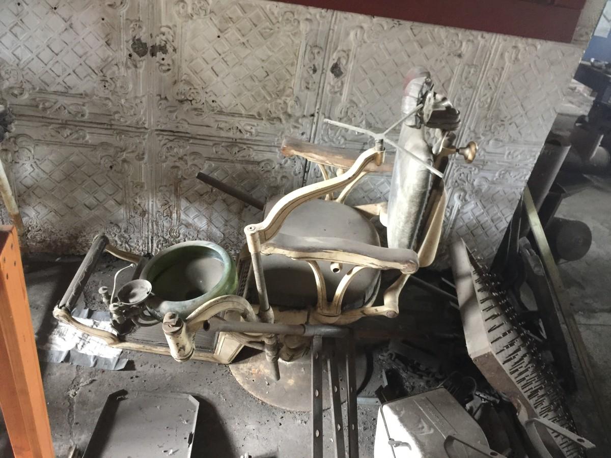 An old dentist chair