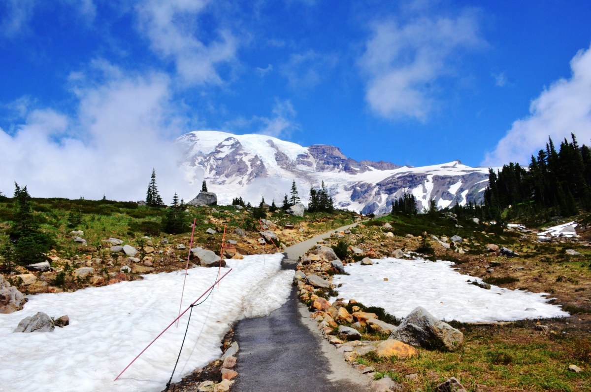 Snow on the Skyline Trail @ Mount Rainier National Park