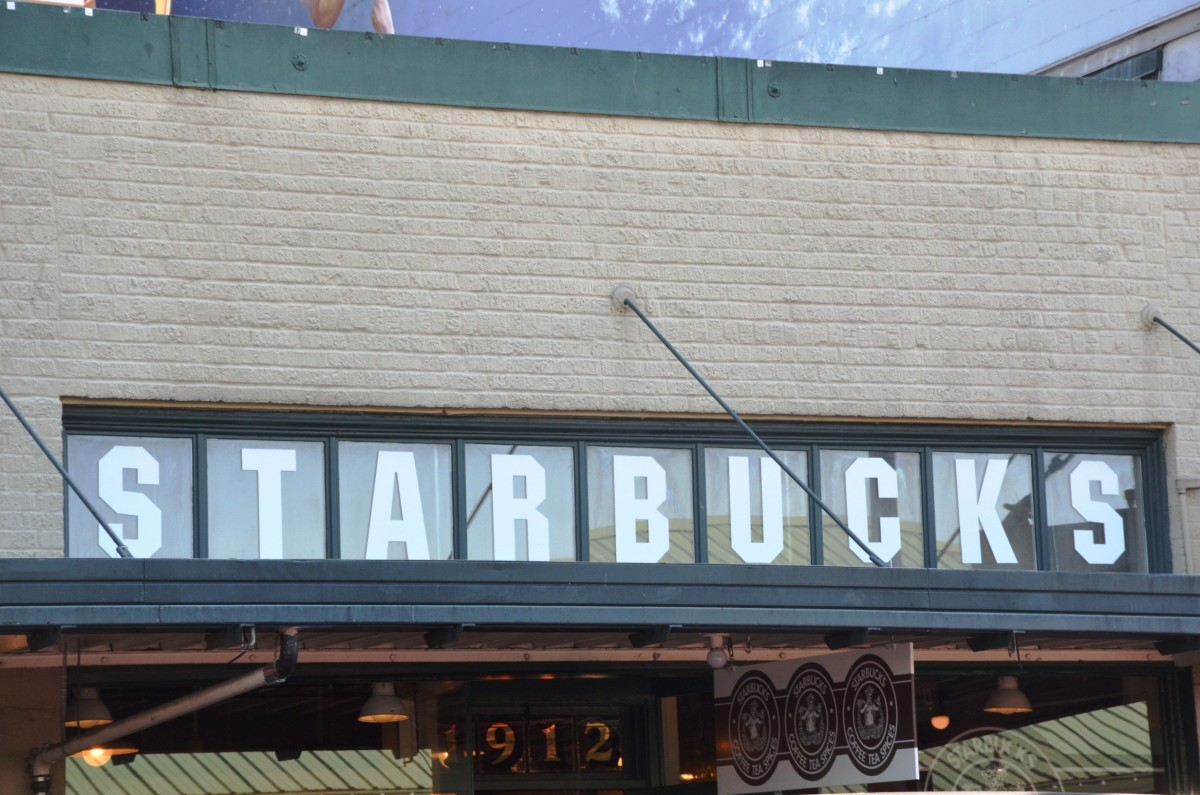Original Starbucks at Pike Place Market in downtown Seattle